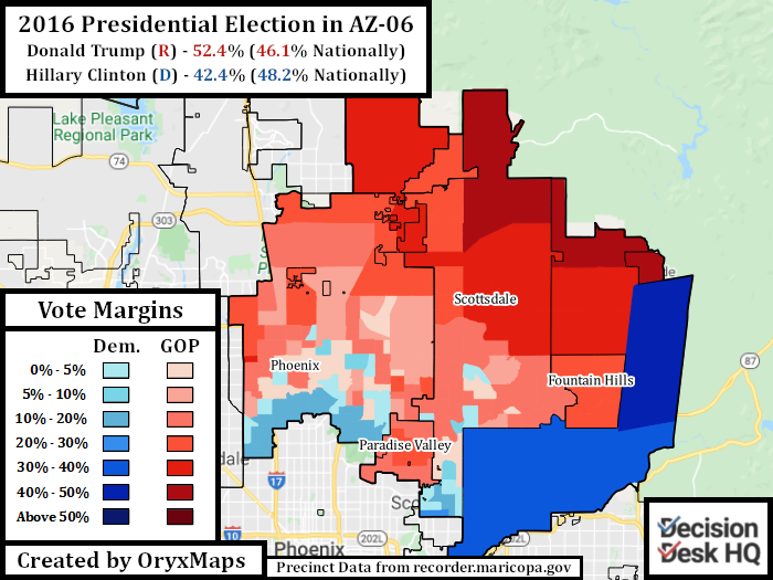 2016 Presidential Election in AZ-06