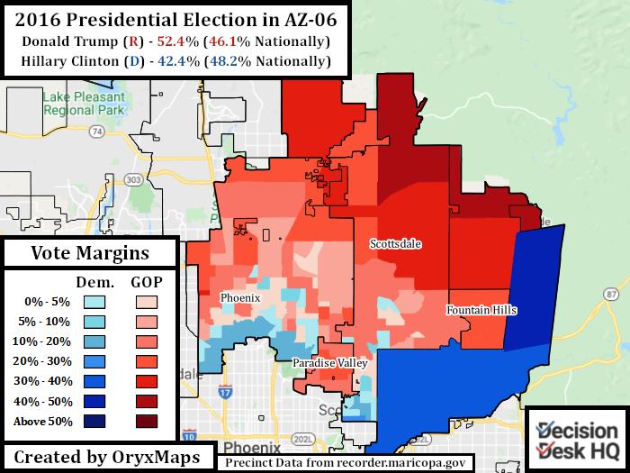 2016 Presidential Election in AZ-06