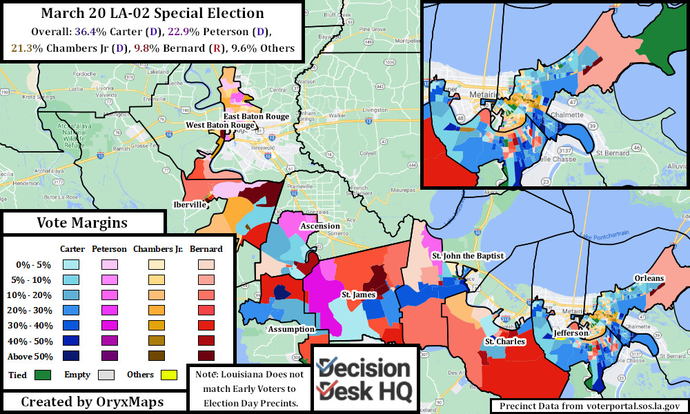 Results of the March 20 Special Election for LA-02